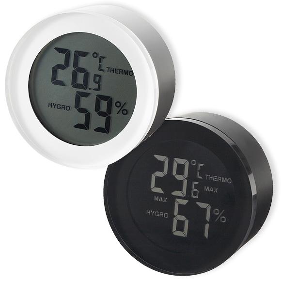 アクリルラウンド温湿度計