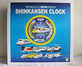 新幹線クロック、2台の列車が走りアナウンスします (SA-shintein)
