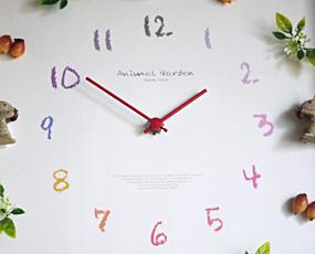 花の掛け時計 (リス)CDC11936