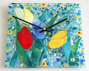 Sebino Arte ガラス時計 AF03R35 チューリップ