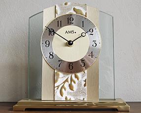 ドイツ AMS(エイエムエス) 社製 ガラス置き時計 1123(AMS1123)