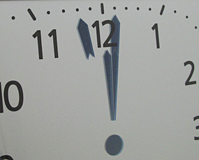 アナログ風デジタル電波時計 掛け置き兼用 (AD-KW9280)