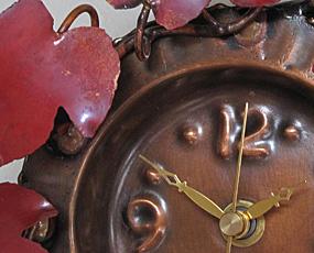 ハンドメイド七宝時計「白ふくろう掛け時計」 (AR-int14-010)