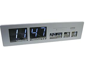 電波LEDメタルクロック「シャロン」 (AV-ACL08)