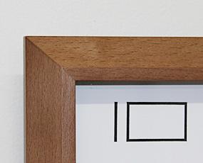 電波木製掛け時計(V-0001)