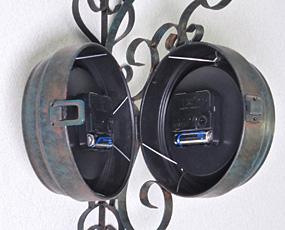 掛け時計 ストリートクロック(両面時計) スイープ