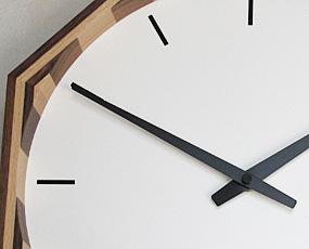 郡上八幡製、純国産電波八角寄せ木時計、風水 (KA-km16)