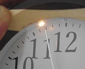 郡上八幡製、純国産 寄せ木アラーム置き時計 (KA-km1)