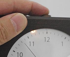 郡上八幡製、純国産 木製アラーム置き時計 (KA-km22)