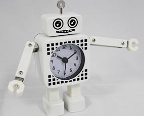 ひょうきん3兄弟、ミニチュアクロック「ロボット」 特価SALE 30%OFF (KY-ROCL2G)