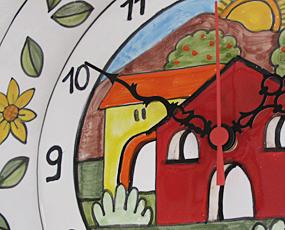 イタリア製、彩色陶器の時計「デイジー」 (PRC-81QDAISE)