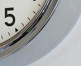 直輸入特価・英国ロジャーラッセル製掛け時計RETRO/CHROME (RLC-SM-RETRO)