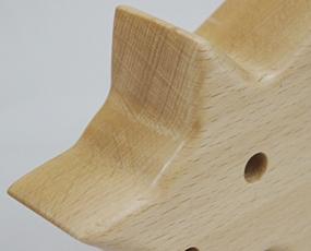 日本製、木製置き時計「モコモ」  (WN-MM00)