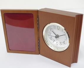 木製置き時計「ブッククロック」 (WN-WB009-ABR)