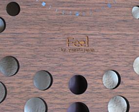 木製振り子時計  「pattern clock S クジャク」 (YK14-111)