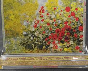 Goebel(ゲーベル)ガラスアートクロック「モネの家」