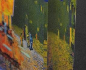 Goebel(ゲーベル)ガラスアートクロック「ゴッホの夜のカフェテリア」