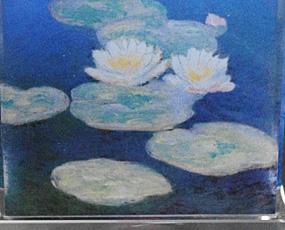 Goebel(ゲーベル)ガラスアートクロック「モネの睡蓮」