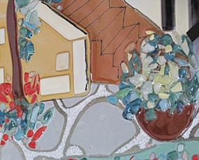 Sebino Arte ベネチアンガラス時計「ガーデン」AF67R35 (YM-AF67R35)