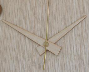 日本製 木製 掛け時計 アナログ スイープムーブメント 天然木 「ビーズクロック」 (DP-BEADS11)