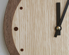 日本製 木製 振り子時計 アナログ 2針 ふくろう 「フクロック」 (DP-FUCLOCK)