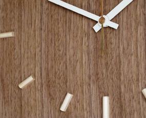 日本製 木製 掛け時計 アナログ スイープムーブメント 天然木 「ナガテンクロック」 (DP-NAGATEN)
