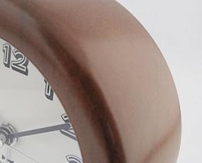 置き時計 目覚し時計 アナログ スイープムーブメント アラーム付 レトロ 天然木 目覚し時計 (ID-BCA005)