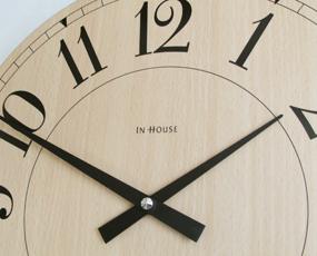 インハウス/INHOUSE 木製掛け時計 40cm 「NEW STATION40」 (KC-NW6)