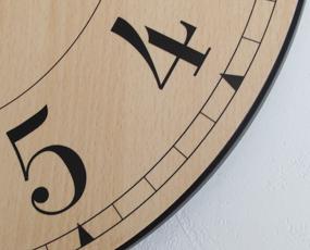 インハウス/INHOUSE 木製掛け時計 30cm 「NEW STATION30」 (KC-NW8)