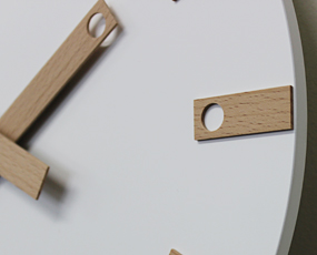 インハウス/INHOUSE 木製掛け時計 30cm 「LOLLY」英国製 (KC-W25)