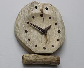 森の樹「フクロウの置き時計」 掛置兼用 (KO-F30OKI)