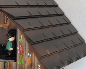 掛け時計 からくり 森の時計 木製からくり鳩時計 ハト時計 カッコー時計 430-6QMT (MD-430-6QMT)