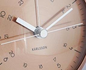 KARLSSON(カールソン)目覚し時計、オランダデザイン「ボタン」