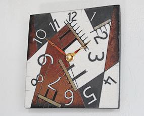 シチズン イタリア製 陶器 掛け時計 アントニオ・ザッカレラ 小型 掛置兼用 (ZC188-009) SALE在庫限り60%OFF