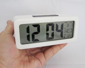 置き時計 LCD時計 電池式 デジタル カレンダー表示 温度計  「クロル」  (SJ-LCD007)
