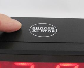 置き時計 LED時計 電池式 デジタル時計  「シスコM」  (SJ-LED111)