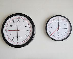 掛け時計 24時間表記 アナログ 掛時計 L (SL-92-611-0164)
