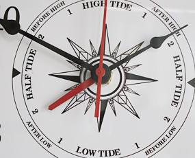 掛け時計 船舶掛時計 アナログ タイム&タイド ホワイト (SL-92-611-0198)