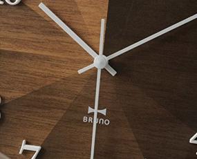 掛け時計 木製 アナログ 2WAY グラデーション ウッドクロック 掛置兼用 (ID-BCW021-)