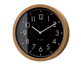 掛け時計 木製 おしゃれ 小型 寄せ木 スイープムーブメント 北欧  コービッシュ (IF-CL2555)