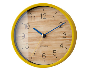 掛け時計 スイープムーブメント アナログ 小型 置き時計 小さなユリヴィエ 掛置兼用 (IF-CL2947)
