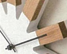 掛け時計 木製 ミッドセンチュリー スイープムーブメント アナログ 小型 ヴィエルコ (IF-CL2949)
