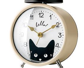 目覚し時計 アナログ アラーム 寝室 置き時計 ベル音 リトルウォッチャーズ (IF-CL2966)