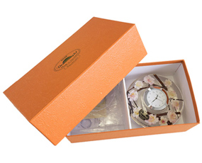 置き時計 ドイツ製 花のガラス時計 ギフト 贈り物 CDD7245 バラ (IK-CDD7245)