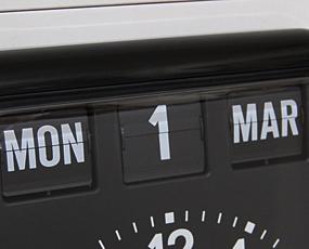 TWEMCO トゥエンコ 掛け時計 パタパタ時計 カレンダー表示 ロータリークロック (OP-BQ-12A)