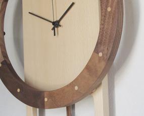 振り子時計 木製 天然木  リビング おしゃれ ハンドメイド 寄せ木時計 振り子 (PM-0460000BW)