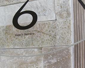 AMS ドイツ製 掛け時計 9543 9544 アナログ 天然石 木製 【期間限定30%OFF!】 国内在庫 即納 (AMS9543 AMS9544)
