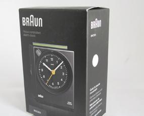 ブラウン(BRAUN) BNC004 目覚し時計 デジタル 音声反応 アラーム モダン 正規品 直輸入 小型 置き時計 ドイツ (YM-BNC004)