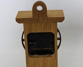 置き時計 天然木 かわいい 木製 ハンドメイド 日本製 掛置兼用 「アラビア数字の時計」 (CF-ARABIA)