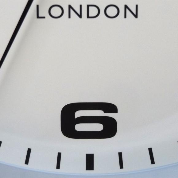 ロジャーラッセル Roger Lascelles 製 おしゃれ アナログ 掛け時計 メタル メタリック 英国デザイン (RLC-SM-DRAKE)